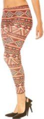 Koraalrode Patroon Legging (Prizanja)