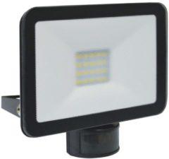 Zwarte ELRO LF5020P LED Buitenlamp met Bewegingssensor Slim Design - 20W / 1600lm - Zwart