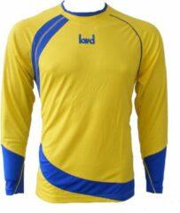 KWD Shirt Nuevo lange mouw - Geel/kobaltblauw - Maat 116/128 - Mini