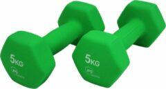 JPS Sports Dumbbells - Dumbbells Set 2 x 5 kg - Gewichten - Halters - Groen