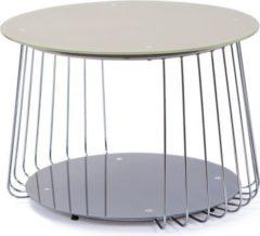 Inter Link Couchtisch Riva 70 cm Glas Pantone grau