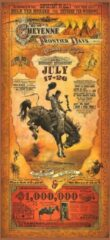 Beige Signs-USA rodeo western affiche - Cheyenne Wyoming - Wandbord - Dibond - 100 x 45 cm