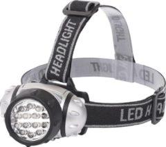 Qualu LED Hoofdlamp - Igia Heady - Waterdicht - 35 Meter - Kantelbaar - 14 LED's - 1W - Zilver | Vervangt 8W