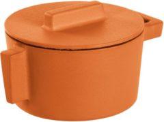 Oranje Sambonet ronde braadpan gietijzer curry, 10cm