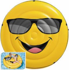Intex Smiley Cool Guy eiland opblaasfiguur - 173 x 27 cm