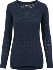 Marineblauwe Urban classics Trui -Sweater - Wideneck Sweater - Modern - Trui Dames Sweater Maat S