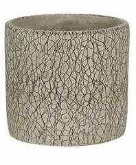 NDT International Pot Leon Grey 14x13 cm grijze ronde bloempot voor binnen