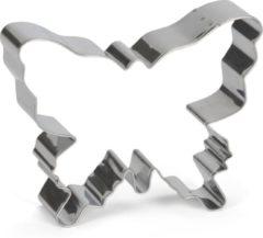 Zilveren Patisse Uitsteekvorm rvs vlinder 10 cm