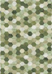 Eurogros Modern Vloerkleed - Amado 6444 - Groen - Stijlvol - Honinggraad - Antislip - Geluiddempend - Anti allergie - Eenvoudig schoonmaken - Kleurrijk - Speels - Makkelijk te combineren