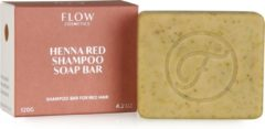Flow Cosmetics Shampoo bar HENNA RED - Shampoo bar rood haar - Zero waste - Vegan - Biologisch - 120gr