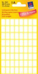 Avery Mini Etiketten, wit, 13,0 x 8,0 mm, permanent klevend - [3041]