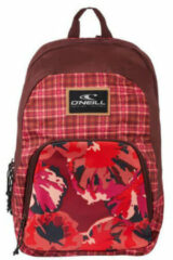 O'Neill O'Neill Rugzak Wedge Backpack Red AOP With Pink