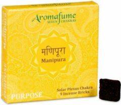 Zandkleurige Aromafume Chakra Wierookblokjes: Manipura - solar plexis chakra