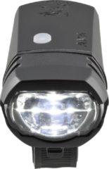 Groene AXA LED Lamp Voorlicht Greenline USB Oplaadbaar 50 Lux Zwart