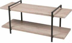 Gebor - Industrieel Tv-meubel Jonas - Twee Planken - 120x40x55cm