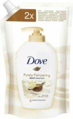Dove Purely Pampering Shea Butter en Vanille Vloeibare Zeep Navulling 500ml