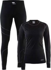 Zwarte Craft Baselayer Set W 1905331 - Sportkledingset - Black/Granite - Dames - Maat XS