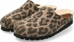 Mephisto THEA Dames Klomp/Slipper - Bruin Jaguar - Extra breed - Maat 35