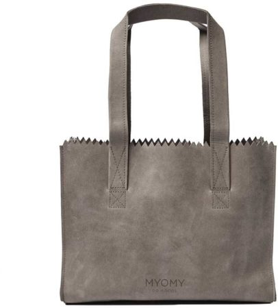 Afbeelding van Grijze MYOMY My Paper Bag Handbag Hunter Taupe Handtas MOM10571381-N