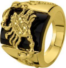 Gouden Lucardi Gold Plated Ring - Schorpioen - Maat 69
