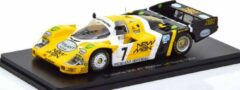 Gele Porsche 956 Winner 24Hrs Le Mans 1984 Ludwig/Pescarolo 1:43 Made by Spark