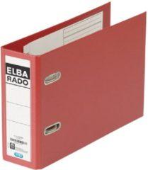 Rode Elba Rado Plast ordner voor ft A5 dwars, donkerrood, rug van 7,5 cm