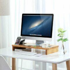 Bruine IBella Living - Monitorstandaard - Bamboe - Laptop Standaard