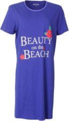 Temptation Dames Bigshirt nachthemd slaapkleed Kobalt Blauw TPNGD1820A Maten: M