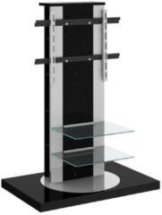 Hubertus Meble Tv-meubel Roma 2 van 126 cm hoog in hoogglans zwart