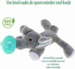 Grijze JillyBee - Knuffelspeen - Knuffel - Speen - Olifant
