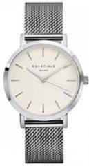 Rosefield The Mercer White Silver horloge - Zilverkleurig