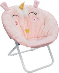 Roze Atmosphera for kids Atmosphera Kinder klapstoel eenhoorn - unicorn - kinderstoel - kinderzetel - vouwstoel - meisjes stoel