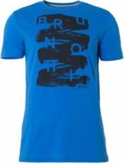 Blauwe Brunotti t-shirt - Alberts - heren I lapis blue - M