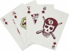 Kikkerland Speelkaarten Tattoo 5 X 7,5 Cm Karton Rood 54-delig