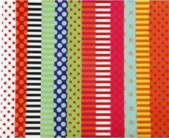Creativ company Glac� papier met print, vel 32x48 cm, kleuren assorti, 100 assorti vel
