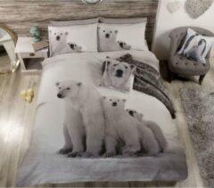 Grijze Urban Unique IJsbeer lits-jumeaux dekbedovertrek, IJsberen dekbed