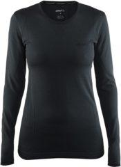 Zwarte Craft Active Comfort Rn Ls W 1903714 - Sportshirt - Black Solid - Dames - Maat L