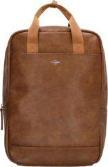 Bruine Charm London Ruime rugtas met laptopvak 15,6 inch (38 cm), brown - Charm