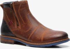 Van Beers leren heren chelsea boots - Cognac - Maat 40