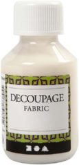 Transparante Creotime decoupage lijmlak textiel 100 ml