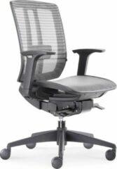 """BenS 816D-Synchro-4 Lux topmodel bureaustoel met """"zwevende"""" zitting Zwart"""