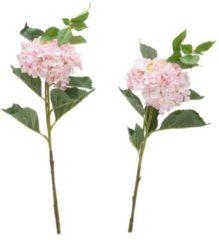 Rosa Fleurange Kunstblumen - Hortensienblüten, 2er Set