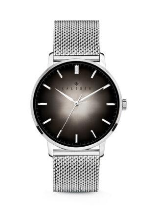 Afbeelding van Kaliber 7KW 00007 Stalen Horloge met Mesh Band - Ø40 mm - Zilverkleurig / Zwart