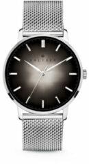 Kaliber 7KW 00007 Stalen Horloge met Mesh Band - Ø40 mm - Zilverkleurig / Zwart
