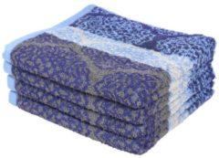 SEASTAR Premium Handtuch 4er Set, blau/grau