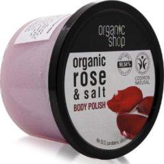 Organic Shop - Organic Rose & Salt Body Polish Pasta Do Ciała Na Bazie Ekstraktu Z Róży I Naturalnej Soli - 250ML