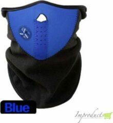Inktmedia® Huismerk Stoere Snowboard & Ski Sjaal met luchtopening - Blauw - Maat L