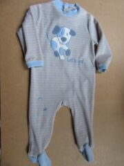 Wiplala pyjama streep blauw hond 18 maand 86