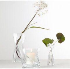 """Leonardo 014103 Vase """"Swirl"""" aus Glas, gedreht, breit, 11x11cm, H 30cm, transparent (1 Stück)"""