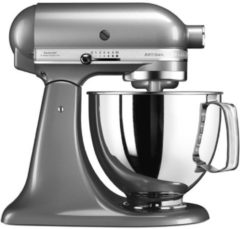 Zilveren KitchenAid Keukenmachine Artisan 5KSM125ECU, contour / zilverkleur, met extra accessoires t.w.v. ca. € 214,